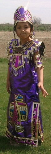 Azteca kid purple tunica dress costume