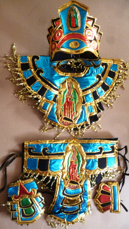 Azteca adult blue Virgen costume