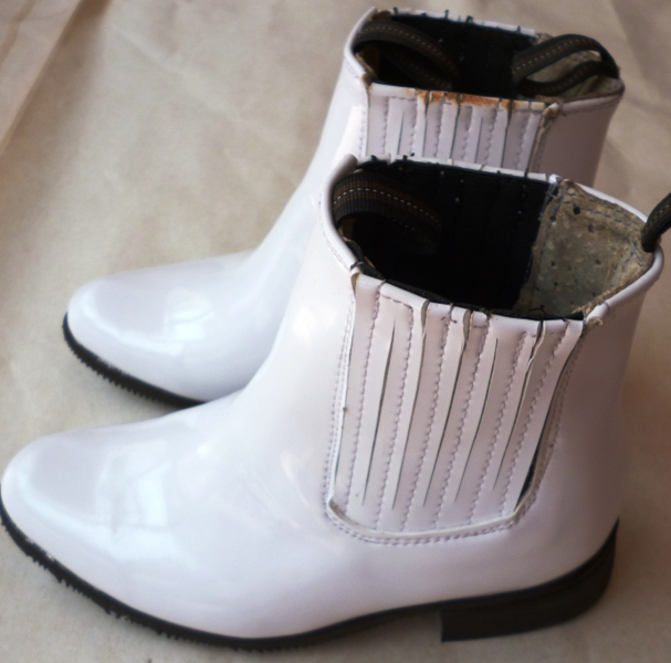 MEXICAN CHARRO TODDLERS BOOTS WHITE