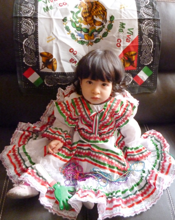 "JALISCO TRICOLOR DRESS  Toddlers 16"" (40cm)"