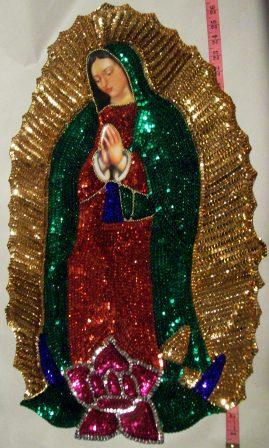 Virgen of Guadalupe Jumbo Sequins Patch