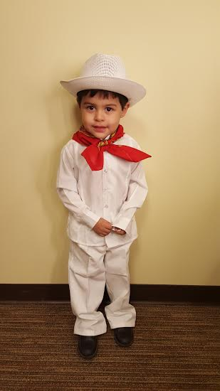 "YUCATAN BOY COSTUME 19.5"" ,23CM FOR 6 YEARS"